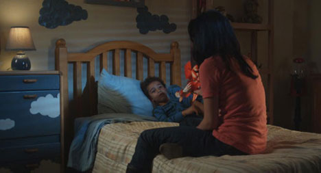 Gia puts Noah to bed in Missing Child