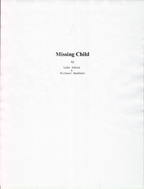 Title page for Missing Child script